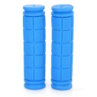 Rubber Bike Bicycle Handlebar Grip Covers for Bike - Blue (Pair)