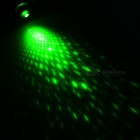 5mW Green Single Dot + Starry Night Laser Pointer Flashlight - Black