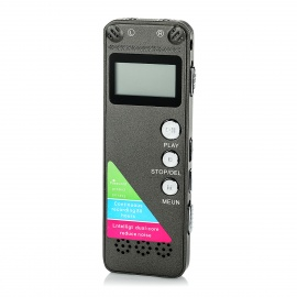 "1"" LCD Digital Audio Voice Recorder MP3 Player - Brownish Grey (8GB)"