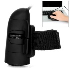 Creative USB 2.0 Wired 1200DPI LED Finger Ring Mouse - Black
