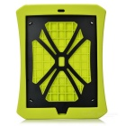 Drop Protection Silicone Case w/ Built-in Frame & Screen Guard & Hang Rope for IPAD AIR 2 - Green