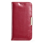 KALAIDENG Royale II Series Protective Top Leather Case w/ Stand for Samsung Galaxy S6 - Wine Red
