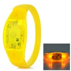 Fashionable Button-Controlled 3-Mode Yellow Light LED Wrist Bangle Bracelet - Yellow (2 x CR2016)