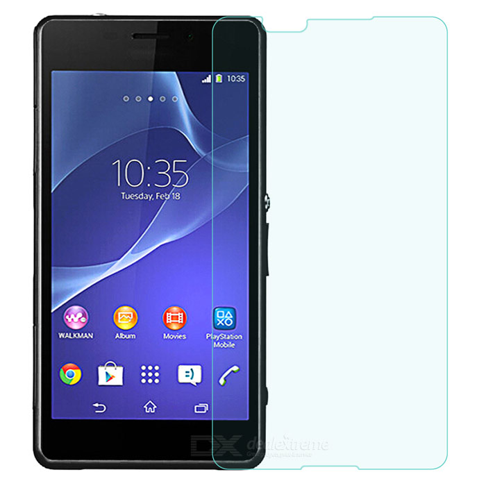 PUDINI 0.3mm 2.5D 9H Tempered Glass Screen Guard Protector for Sony Xperia E4 - Transparent