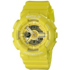 Genuine Casio Ladies Baby-G BA-110BC-9AER Watch w/ 100-meter Water Resistant Case - Yellow