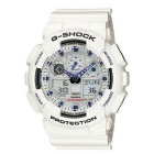 Genuine Casio G-Shock GA-100A-7ADR Watch w/ 200-meter water Resistant Case - White