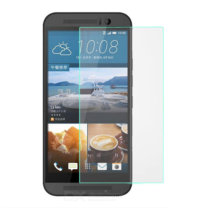 PUDINI Protective Tempered Glass Screen Protector for HTC One M9 - Transparent