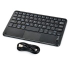 Ultra-thin Bluetooth 59-Key Keyboard w/ Touch Mouse - Black