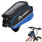 "INBIKE IB289 Outdoor Cycling Bike Top Tube Double Bag for 4.8"" Cell Phone - Black + Blue"