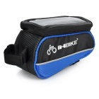 "INBIKE IB289 Cycling Bike Top Tube Bag for 4.8"" Phone - Black + Blue"