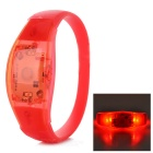 Fashionable Button-Controlled 3-Mode Red Light LED Wrist Bangle Bracelet - Red (2 x CR2016)