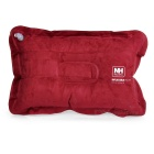 NatureHike Outdoor Travel Inflatable Suede Pillow - Wine Red