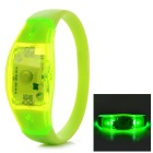 Fashionable Button-Controlled 3-Mode Green Light LED Wrist Bangle Bracelet - Green (2 x CR2016)