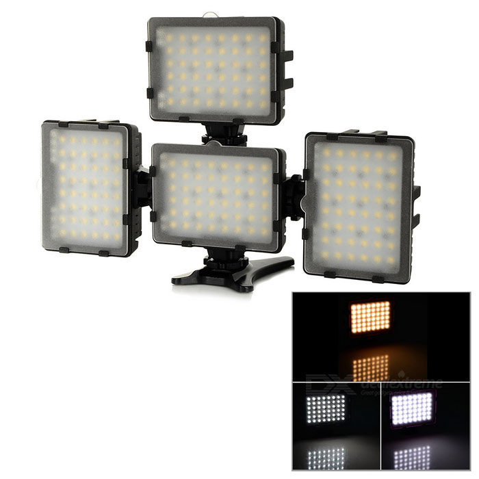 Camera Studio LED 3200K 5600K Fill Lights Combined Set w/ Color Filter