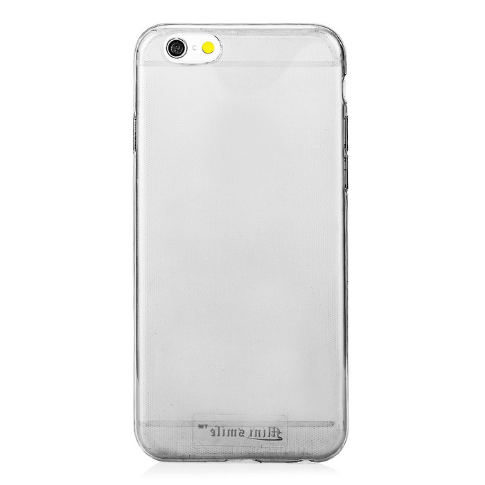 Mini Smile 5mm TPU Back Case Cover for IPHONE 6 - Translucent Grey