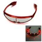 Party Ball 8-LED 3-Mode Cool Glasses - Red (3 x AG13)