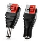5.5 x 2.1mm Female + Male Plug Connector / DC Power Adapter / Monitor / LED Power Supply (Pair)