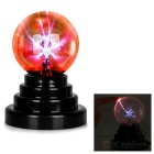 "3.5"" Magic Gift Plasma Ball Sphere w/ USB Cable - Black + Transparent"