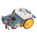 Tracking Robot Car Electronic DIY Kit - Blue + Yellow