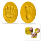 Quick AiI Drying Baby Child Handprint & Footprint Modelling Clay Impression Kit - Golden