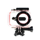 Protective Camera 30M Waterproof Plastic Housing Case for Xiaomi Xiaoyi Camera - Red + Transparent