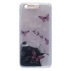 "Butterfly + Girl Pattern LED Flashing Protective PC Back Case for IPHONE 6 4.7"" - Light Pink"