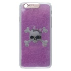 Skull Pattern Incoming Call LED Flash Protective Plastic Back Case for IPHONE 6 PLUS - Pink + White