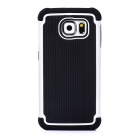 Protective TPU + PC Back Case Cover for Samsung Galaxy S6 - White + Black