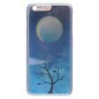 "Moon & amp; Tree Pattern LED Flash Light Protective PC zurück Fall für iPhone 6 Plus 5,5 ""- Blau + Gelb"