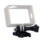PC Fixed Protective Frame + Long Screw + Buckle Mount Set for Xiaomi Xiaoyi Camera - White + Black