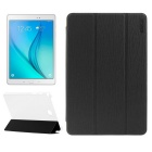 ENKAY 3-Fold Protective PU Leather + Plastic Case w/ Stand for Samsung Galaxy Tab A 8.0 T350 - Black