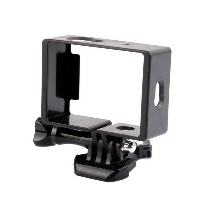 PANNOVO Camera Side Frame Case w/ Mount for XIAOMI XIAOYI - Black