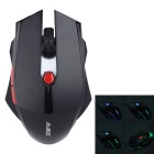 Ajazz USB 2.0 Wired 6-Button 600/1000/1600DPI LED Gaming Mouse w/ Backlight - Black