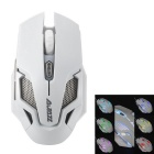 AJazz Green Hornet 2 USB 2.0 Wired 250~4000DPI Gaming Mouse w/ Backlight - White