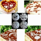 4-in-1 Bakeware Spray Printing Decoration Molds for 8 Inch Cake - White