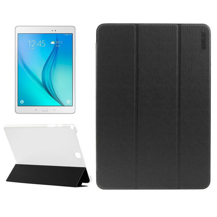 ENKAY 3-Fold Protective PU Leather + Plastic Case w/ Stand- Black