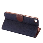 MO.MAT JEAN Pattern Case w/ Stand, Card Slot for Huawei P8 - Dark Blue