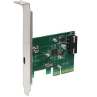 WBTUO Desktop PCI-E 4X USB 3.1 Type-C Expansion Card Adapter 4-Pin Power Interface