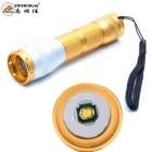 ZHISHUNJIA FB03 XP-E Q5 LED 400lm 3-Mode Cool White Zooming Flashlight - Golden (1 x 14500 / 1 x AA)