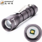 ZHISHUNJIA SK72XPE 1-LED 400lm 3-Mode White Zooming Flashlight w/ Clip - Grey (1 x 14500 / AA)