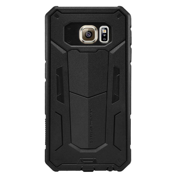 NILLKIN Stronger Series TPU + PC Back Cover Case Armor for Samsung Galaxy S6 / G920F - Black