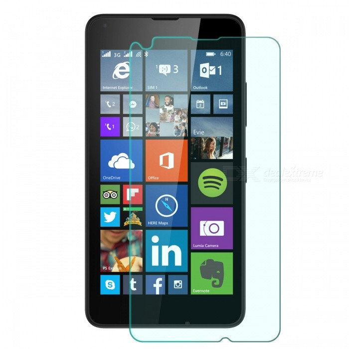 Mr.northjoe 0.3mm 2.5D 9H Tempered Glass Screen Guard Protector for Microsoft Lumia 640