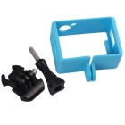 Border Frame, Long Screw, Buckle Mount Set for SJ4000, SJCAM - Blue