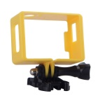 Border Protective Frame + Long Screw + Buckle Mount Set for SJ4000 Sports Camera - Black + Yellow