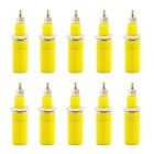Jtron 4mm Binding Post Terminal for Banana Plug Test Probe - Yellow (10PCS)