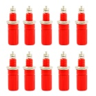 Jtron 4mm Binding Post Jacks for Banana Plug Test Probe Connector - Red (10 PCS)