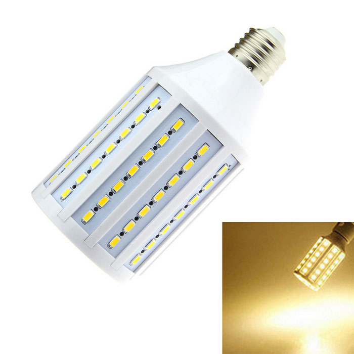 E27 15W LED Bulb Lamp Warm White 1600lm 102-SMD - White (AC 220V)