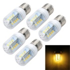 Marsing E27 6W LED Bulb Lamp Warm White Light 3000K 600lm 32-SMD 5730 (AC 220~240V / 5PCS)
