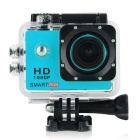 "Smartron 1.5"" TFT 170 Degree FHD 1080p Waterproof Action Sport Digital Video Camera - Light Blue"