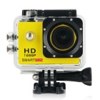 "Smartron 1.5"" TFT 170 Degree FHD 1080p Waterproof Action Sport Digital Video Camera - Yellow"